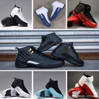 Wholesale Lining Basketball - New Mens White OVO Shoes French Gamma Blue Gym Basketball Air Retro 12 Basket Ball Retros XII 12S Retro12 Shoe Sneakers Red Black On Line