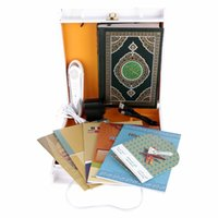 Wholesale Holy Quran Pen Reader - Wholesale-Digital Holy quran read pen Quran pen Reader Pen Koran Player digital voice recorder 8GB nice Wooden Box free shipping