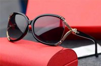 Wholesale Designing Brand Logo - new brand sunglasses 0718 italian designer bling style hollow frame round sunglasses fashion women design leopard logo UV400 lens