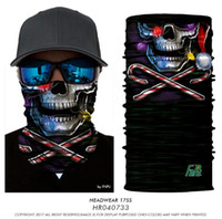 Magic Headband Chevalier de la mort Echarpe pirate Skull Skeleton Ghost Casque de cyclisme de ski Headband Manteau Body Bandana 3D Masque facial TOP1786QQ