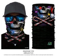 Wholesale Pirate Skull Mask - Magic Headband Death Knight Pirate Scarf Skull Skeleton Ghost Ski Cycling Headwear Headband Motorcycle Neck Bandana 3D Face Mask TOP1786QQ