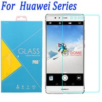 huawei p8 lite 9h toptan satış-Premium kalite huawei P10 temperli cam ekran koruyucu film için huawei p9 p8 p7 p6 p8 lite P8 LITE 2017 perakende paketi ile