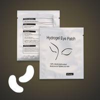 Wholesale Extension Eyelash Patches - 2000pcs Eye Patch for Eyelash Extension Under Eye Patches Lint Free Gel Pads Moisture Eye Mask DHL Free