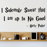 Wholesale harry potter wall - I Solemnly Swear That I Am Up To No Good Harry Potter Wall Or Window Decal Home Decor Bedroom Wall Stickers