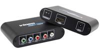 hdmi ypbpr adapter großhandel-Ypbpr zu HDMI Adapter Component Ypbpr mit R / L Video und Audio zu HDMI Konverter Umrechnungsbox Netflix, Appl e / Google TV kompatibel