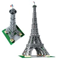 Wholesale Built Aircraft Models - IN STOCK Free Shipping New LEPIN 17002 3478pcs The Eiffel Tower Model Building Kits Brick Toys Compatible 10181 Christmas Gift