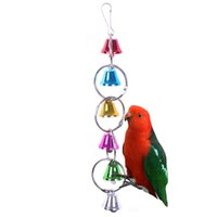 Wholesale Factory direct parrot supplies bird toy bell string toy parrot bite toys swing stand bar ladder