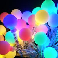 açık renkli çok renkli ışıklar toptan satış-10 M 100 LEDs 110 V 220 V IP44 Açık Renkli LED Dize Işıklar Noel Işıkları Tatil Düğün parti dekorasyon Luces LED