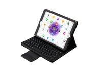 Wholesale Leather Case Tablet Keyboard Bluetooth - hot sale tablet case removeable wireless bluetooth silicone keyboard folio leather case for ipad pro 12.9 9.7 air air 2