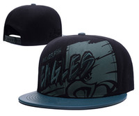 Wholesale New Trukfit Caps - 2017 new arrival Eagles Snapback Caps Adjustable All Team Basketball Hats Black Trukfit Hip Hop Snapbacks High Quality Players Sports