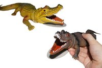 Wholesale 28cm New peculiar simulation small crocodile model toys vocal crocodile crocodile vent small toy