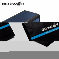 Wholesale-BlitzWolf Original 20W 3A banco de energia solar portátil Foldable Powerbank Cellphone USB Solar Painel Solar SunPower para o telefone