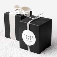 ingrosso candela regalo di vaso-Commercio all'ingrosso Bianco Nero Kraft Paper Gift Box Cosmetici Bottiglia Jar Box Craft Handmade Sapone Candela Scatole di stoccaggio valvolari