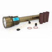 проблесковый свет для подводного плавания оптовых-KC огонь новый светодиодный дайвинг фонарик 7 X XML T2 8400LM LED вспышка света подводный 100 м водонепроницаемый Факел лампы