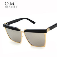 Wholesale Rave Sunglasses - WHO CUTIE 2017 Fashion Square Frame RAVE Style Eyebrow Sunglasses Women Men Brand Designer Sun Glasses UV400 Oculos De Sol OM213