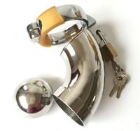 Wholesale Mini Chastity - Latest design super mini super small Male Chastity Art Device Cage Cock ring BDSM Sex toys