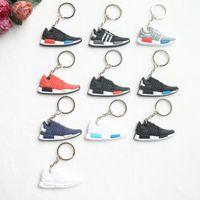 Wholesale Mini Sneaker Chain - New Mini Silicone NMD Key Chain Jordan Keychain Key Ring, Sneaker Keychain Men Key Holder for Woman and Girl Gifts