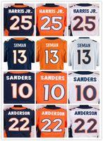 Wholesale Elite 13 - Men's #25 Chris Harris Jr 22 C.J. Anderson 13 Trevor Siemian 12 Paxton Lynch 10 Emmanuel Sanders rush elite jersey