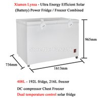 Wholesale Refrigerator 12v Compressor - Wholesale- 408L DC compressor Chest Freezer Ultra Energy Efficient Solar Battery Powered Fridge Freezer Combined Refrigerator