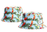 Wholesale Summer Womens Foldable Hats - New Designer Parrot Print Cayler & Sons Bucket Caps For Mens Womens Foldable Fishing Caps Black Fisherman Beach Sun Visor Sale Man TYMY 11