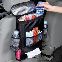 ingrosso sedia copre tasche-Car Cooler Bag Seggiolino Organizer Multi Cooling Pocket Arrangiamento Schienale Sedia Styling Seat Cover Organizer Holder