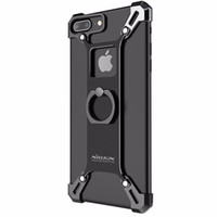 Wholesale Bumper Shield - Nillkin Bumper for Apple iPhone 7  7 Plus Case Cover Metal Frame Case for iPhone7 Plus Cover Shockproof Shield + Ring Holder