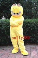 sarı elbise karikatür toptan satış-2017 Garfield maskot yüksek kalite sarı karikatür kostümleri yetişkin boyutu fantezi elbise parti karnaval geçit ücretsiz kargo