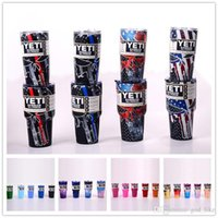 Wholesale 50 Colors oz oz oz oz YETI Rambler Tumblers Stainless Steel Cups Punisher Skull Mugs Double Wall Cup Travel Vehicle Beer Mugs