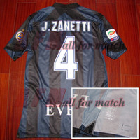 Wholesale Quick Match - RUGBY Serie A 13 14 JC4 Zanetti retire Match Worn Player Issue Shirt Jersey Short sleeves Football Rugby Custom Patches Sponsor