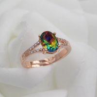 Wholesale Swarovski Rings Rose Gold - 2017 New arrivel Rose Gold Plated SWAROVSKI Crystal ZC Rings For Women Fashion Luxury Jewelry Charm Zircon Ring