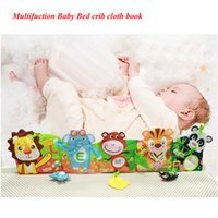 Wholesale Cartoon Baby Cot - Wholesale- Baby crib Cloth Books Multifunction bed learning musical mobile toys Early Educational Development cot playpens first book Toy