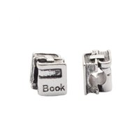 Wholesale Sterling Silver Chamilia Bracelet - Fits Pandora Charm Bracelet Square Box Book Beads Sterling Silver Dangle DIY Handmade Jewelry For Chamilia European Women Charms