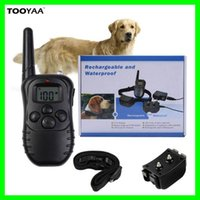 Wholesale Ultrasonic Collars For Dogs - 998DR 300M Remaote Anti Barking Pet Dog Training Collars with LCD Dispaly Rechargeable Waterproof 100LV 300Yard Shock Vibration For 2 Dogs