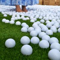 Wholesale Indoor Outdoor Training Practice Golf - 10Pcs White PU Foam Golf Ball Indoor Outdoor Practice Training Aid Golf Ball Golf Supplies