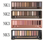 Wholesale Palette Corrector Makeup - 24pcs Best quality Naked eye shadow pallet smoky makeup NO:1 2 3 5 6 8 Palette 12 color naked pallet Matte Natual eyeshadow Cosmetics