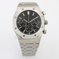 Wholesale Skeleton Limited Edition - Royal AAA watch men quartz chronograph full silver Stainless steel original strap black three tone Skeleton face mens watches Wristwatches