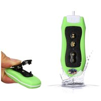 Wholesale Mp3 Dive - Wholesale- 8GB MP3 Player Swimming Underwater Diving Spa + FM Radio Waterproof Headphones Green
