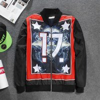 Wholesale Yellow Worms - 2017 Newest 17 number painting worm hoodie fashion cotton-pad lattice letter high quality exquisite craftsmanship jacket zipper sweatshirt