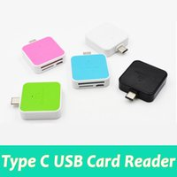 Wholesale Otg Mobile Card Reader - Brand new mobile phone multi function type c micro usb sd card reader OTG universal 3.0 high speed TF SD card reader