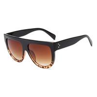 yeni pc fiyatı toptan satış-Promosyon fiyat Yeni Moda Kare Güneş Kadınlar Retro Marka Tasarımcısı Güneş Gözlükleri Kadınlar için Düz Üst Boy Güneş Gözlüğü UV400 ulosculos