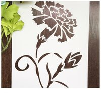 Friendly stencil bianco fiore DIY Maschera template Per Scrapbooking, cardmaking, pittura, carte DIY-L'unico garofano 059