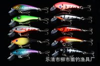 Wholesale Lure Bait Making - 1pcs Fishing Lures 3D Eyes 8# Hooks Minnow Lure 10 Color Crankbait Artificial Make Plastic Fishing Tackle YH-2