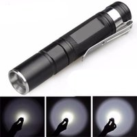 Impermeable 3500LM Pocket Cree Q5 LED Linterna Zoomable LED Torch Mini Penlight luz para camping al aire libre Caminando