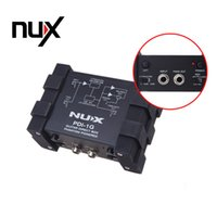 Wholesale Audio Power Mixer - NUX PDI-1G Guitar Direct Injection Phantom Power Box Audio Mixer Para Out Compact Design Metal Housing Top Quality