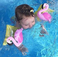Wholesale Sunnylife Newest Inflatable Float Swim Arm Ring Kids Summer Cartoon Flamingo Crab Swimming Children Water Beach Bath Toys Fashion