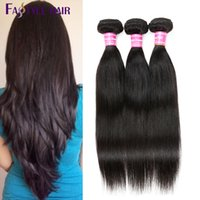 Fastyle Indian Straight Extensions 3 Bundles 100% UNPROCESSED Brazilian Indian Malaysian Virgin Human Hair Wefts Preço Econômico de qualidade superior
