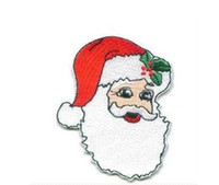 Wholesale Wholesale Christmas Iron Appliques - Santa Claus Christmas Embroidered Iron On Patch Applique Badge Kids Children Cartoon Patch wholesale free shipping