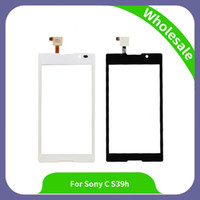 Wholesale Touchscreen Parts - Phone Parts High Quality 5 inch C2304 C2305 Touchscreen Panel Digitizer Front Glass Lens Sensor Touch Screen For Sony Xperia C S39H