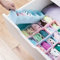 Wholesale Organizer Panties - Multi-function Desktop Drawer Storage Box Clothing Organizer Five Grid Storage Box Underwear Panties Socks Bra Ties Organizer LZ0210