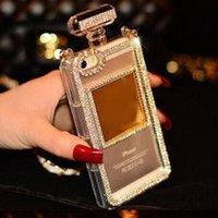 Wholesale Diamond Phone 4s - or Iphone 4 4s Luxury Diamond Perfume Bottle TPU Phone Case For For iPhone 6 6sPlus 5 5S 7 7Plus Samsung S5 S6 S7 Edge Note 4 5